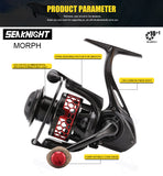 KN MORPH 10+1BB CARBON FIBER BODY SPINNING REEL 5.2:1