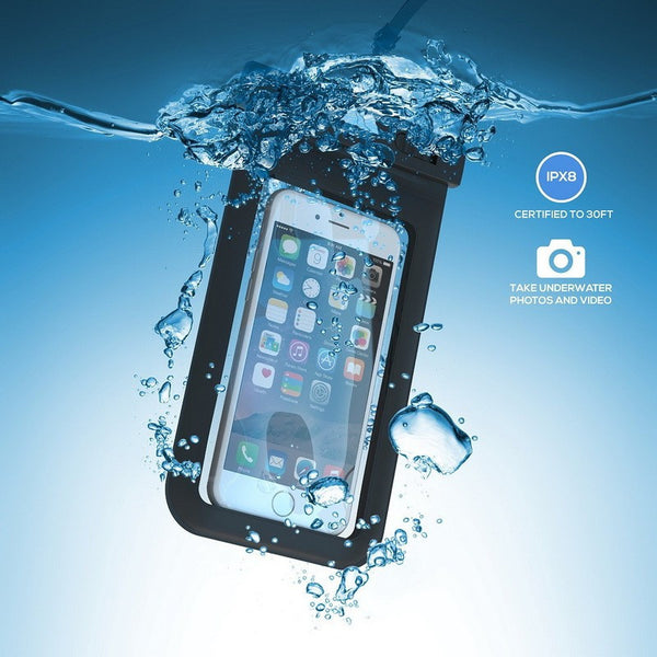 100% Waterproof Clear Plastic Pouch/Bag For Smartphones - groovy-grabz
