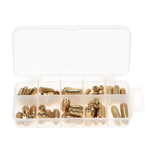 Assorted Bullet Copper Sinkers (50 pieces) With FREE Storage Box - groovy-grabz