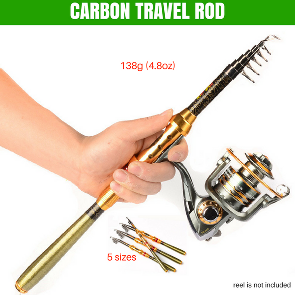 ULTRA-LIGHT CARBON TELESCOPIC FISHING ROD