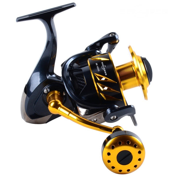 LK SALTIST 9+1BB 35kg Heavy Drag Power Spinning/ Jigging Fishing Reel, Made In Japan - groovy-grabz