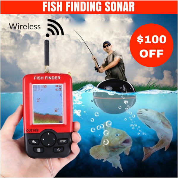 FULL COLOR HANDHELD LCD MONITOR AND WIRELESS SONAR SENSOR FISH FINDING COMBO - groovy-grabz