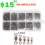 ROLLING FISHING SWIVEL 500 PIECES - groovy-grabz