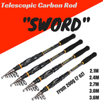 """SWORD"" Series Telescopic Carbon Fishing Rod - groovy-grabz"