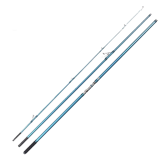 LK Longcast 4.2m 3 Section Surf Carbon Rod With Fuji Guide Rings - groovy-grabz