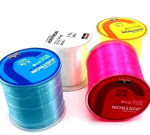 Daiwa Justron Super Strong Monofilament Nylon Fishing Line 2-28LB 500m - groovy-grabz