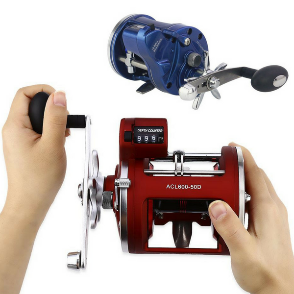 12BB Offshore Drum Wheel Trolling Fishing Reel With Depth Counter