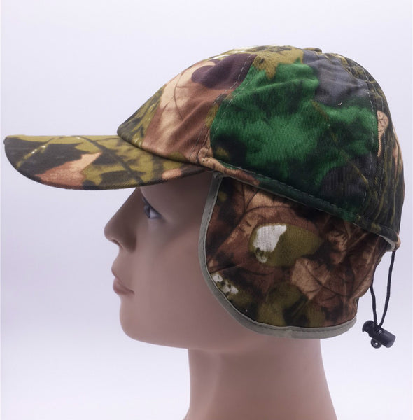 Camouflage Hunting Cap With Flaps And 5 LED Lights - FREE Shipping