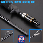 LK Heavy Power 2m/ 15kg Slow Jigging Baitcasting Rod With All Fuji Parts - groovy-grabz