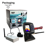 Full  Color LCD Screen Wireless Boat Fish Finder