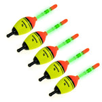 Set of 5 EVA Foam Floats in 5g, 15g, 30g or 40g + 10 FREE Luminous Sticks - groovy-grabz