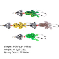 RUBBER FROG FISHING SPINNER BAIT MULTICOLOR SET OF 4 - groovy-grabz