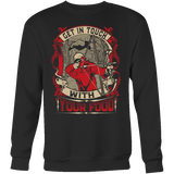 """Get In Touch With Your Food"" Bowhunting CUSTOM Crewneck Sweatshirt"
