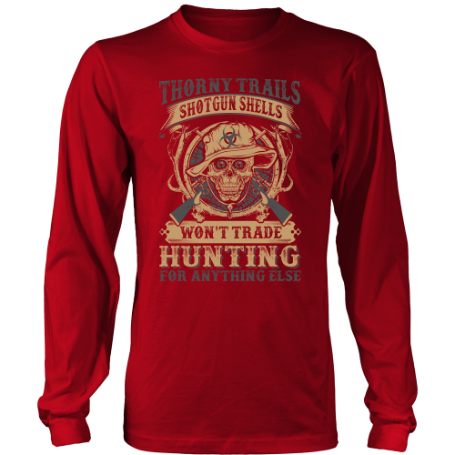 """Thorny Trails"" CUSTOM Hunting Long Sleeve T-Shirt"