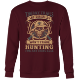 """Thorny Trails"" CUSTOM Hunting Crewneck Sweatshirt - groovy-grabz"
