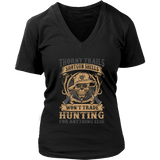"""Thorny Trails"" CUSTOM Hunting Women V-Neck T-Shirt - groovy-grabz"