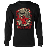 """Get In Touch With Your Food"" Bowhunting CUSTOM Long Sleeve T-Shirt"