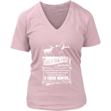 Vegetarian Hunting Women V-Neck T- Shirt
