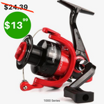 SPINNING FISHING REEL WITH MACHINED ALUMINUM SPOOL AND BRASS PINION GEAR