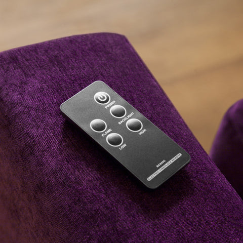 Remote control for an electric fire