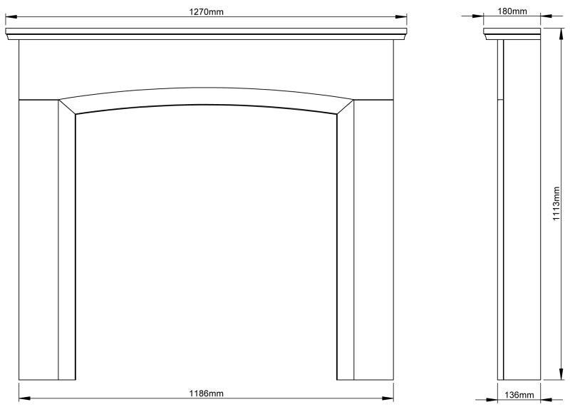 Be Modern Ellonby Fireplace Surround Dimensions