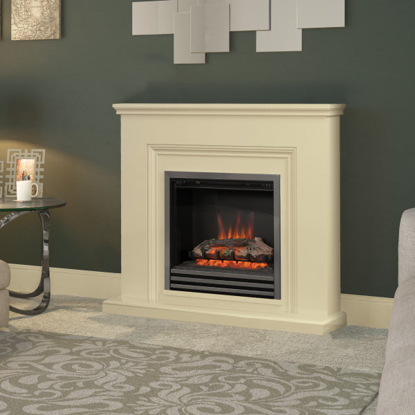 Be Modern Stanton Electric Fire Suite In Almond Stone