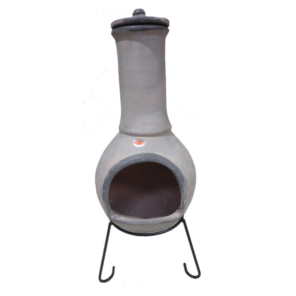 Gardeco Extra Large Pepino Mexican Chiminea In Pale & Dark Grey | SKU: C5PEP.72 | Barcode: 5031599050744