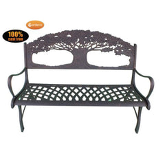 Gardeco Cast Iron Bench With Tree | SKU: BENCH-TREE | Barcode: 5031599039459