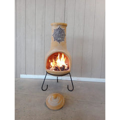 Gardeco Extra Large Tulum Mexican Chiminea In Yellow | SKU: C5TUL.01 | Barcode: 5031599050690