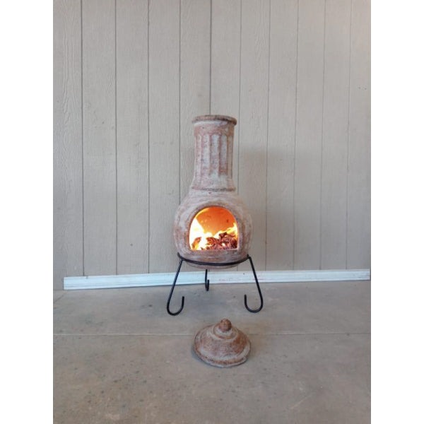 Gardeco Extra Large Muro Mexican Chiminea In Ochre Red | SKU: C5MUR.05 | Barcode: 5031599050874