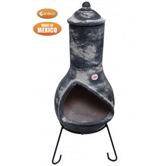 Gardeco Contemporary Jalisco Mexican Chiminea In Dark Grey | SKU: C5JAL.55 | Barcode: 5031599050720