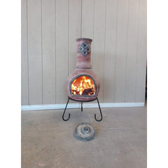 Gardeco Extra Large Ramona Mexican Chiminea In Red | SKU: C5RAM.02 | Barcode: 5031599050881