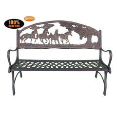 Gardeco Country Cast Iron Bench With Horses And Tree | SKU: BENCH-COUNTRY | Barcode: 5031599039442