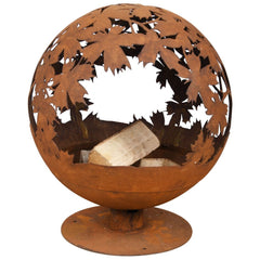 Esschert Design Rust Firepit With Laser Cut Leaves | SKU: 421280 | UPC: 8714982141089