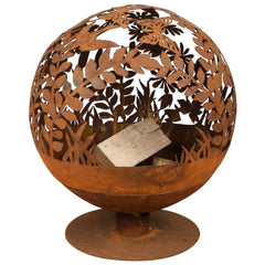 Esschert Design Rust Firepit With Laser Cut Flowers | SKU: 421281 | UPC: 8714982141096