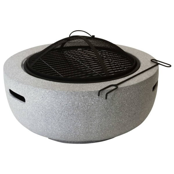 Esschert Design White Round MGO Fire Bowl | SKU: 428851 | UPC: 8714982159220