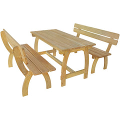 VidaXL Impregnated Pinewood Beer Table With 2 Benches | SKU: 273754 | Barcode: 8718475995777
