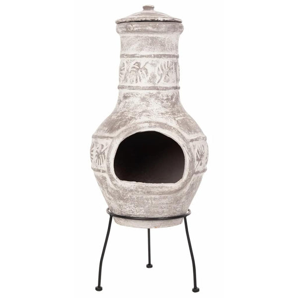 RedFire Acopulco Clay Chiminea / Outdoor Fireplace In Grey | SKU: 411836 | Barcode: 8718801854747