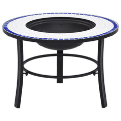 VidaXL Blue And White Mosaic Firepit | SKU: 46720 | UPC: 8719883733708