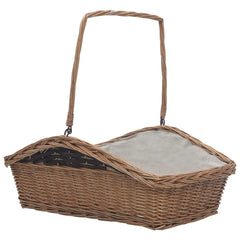 VidaXL Brown Willow Firewood Basket With Handle 61.5cm | SKU: 286989 | UPC: 8719883765365