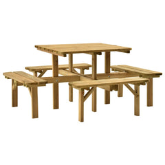 VidaXL Impregnated Pinewood 4 Side Picnic Table With 4 Benches | SKU: 315406 | Barcode: 8720286211502