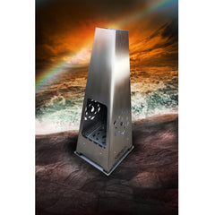 6 Elements Sirius Fire Spike - Contemporary Stainless Steel Chiminea | SKU: SI-0001 | GTIN: 506061208 0036