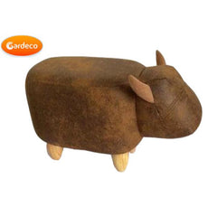 Gardeco Cowie The Small Brown Cow Leatherette Footstool | SKU: FS-COW-BR-SMALL | Barcode: 5031599050133