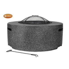 Gardeco Cylinder MGO Firepit In Dark Grey | SKU: CYLO-T | Barcode: 5031599049656