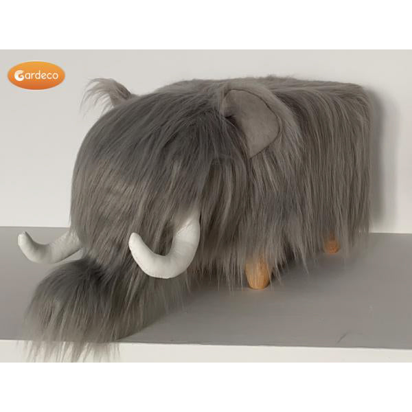 Gardeco Tundra The Woolly Mammoth Synthetic Fur Footstool | SKU: FS-MMTH | Barcode: 5031599050409