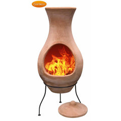 Gardeco Large Air Chiminea In Natural Terracotta | SKU: C4A.00-LARGE | Barcode: 5031599033969