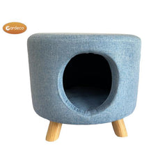 Gardeco Round Cat House Footstool | SKU: FS-ROUND-CAT-B |  Barcode: 5031599050379