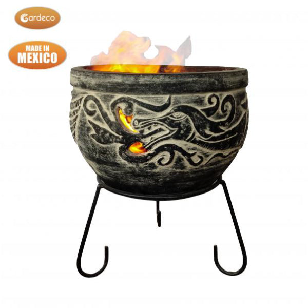 Gardeco Wynd The Dragon Celtic Fire Pit In Charcoal Grey
