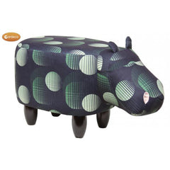 Gardeco Jasper The Postmodern Black And Green Hippo Footstool | SKU: FS-HIPPO-BG | Barcode: 5031599050539