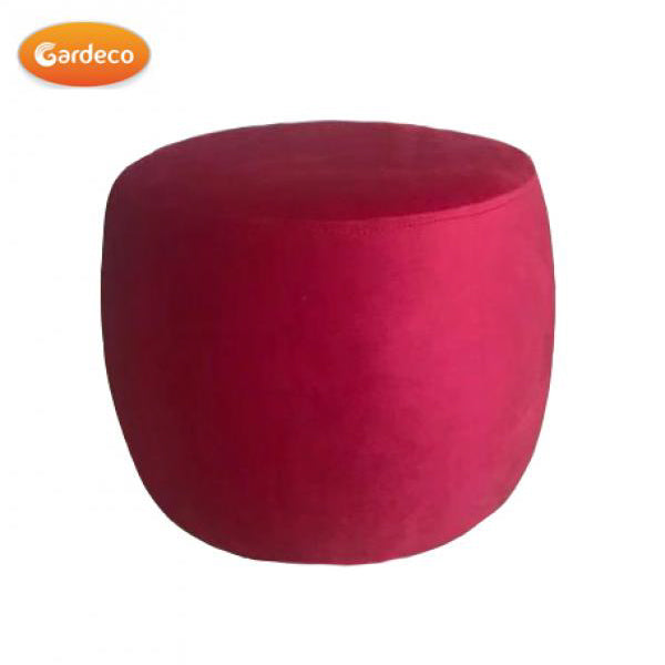 Gardeco Red Round Footstool | SKU: FS-CONFETTI-R | Barcode: 5031599050362